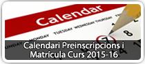 Calendari de preinscripccions