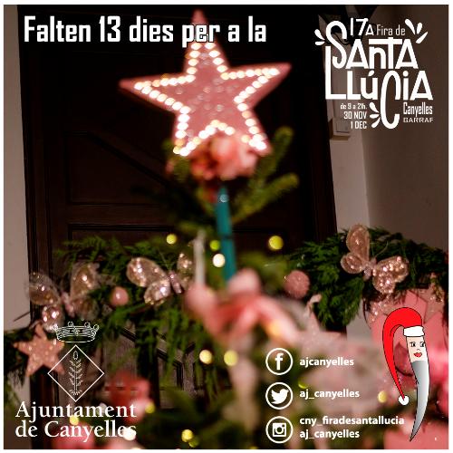 Falten 13 dies per a la Fira de Santa Llúcia