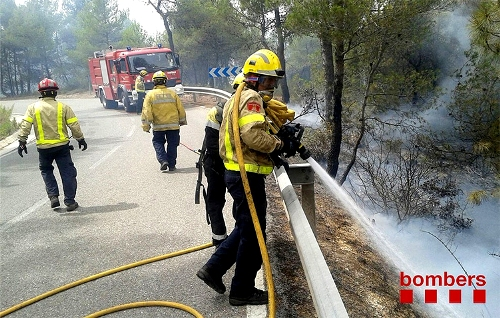 Imatge d'una actuació dels bombers